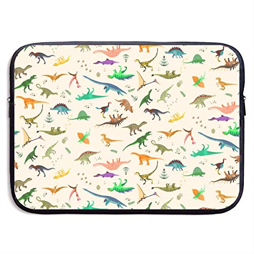 Gao808yuniqi Dinosaurs Set Laptop Sleeve Shoulder Bag for Women, Protective Carrying Case Compatible with 13-15 Inch MacBook Pro, Air, Notebook,Slim Sleeve