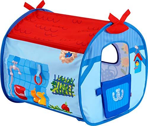 HABA 303226 - Pferdestall Bauernhof-Welt   Detailreich gestalteter Stall für  Pferde der HABA-Puppen   Puppenzubehör für Bauernhof-Rollenspiele   Spielzeug ab 18 Monaten