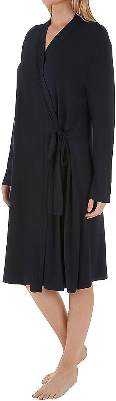 Shadowline Women's Before Bed Collection 38  Sleepshirt  Soft, Short Wrap Bathrobe
