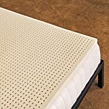 Pure Green 100% Natural Latex Mattress Topper - Medium Firmness - 3 Inch - Queen Size