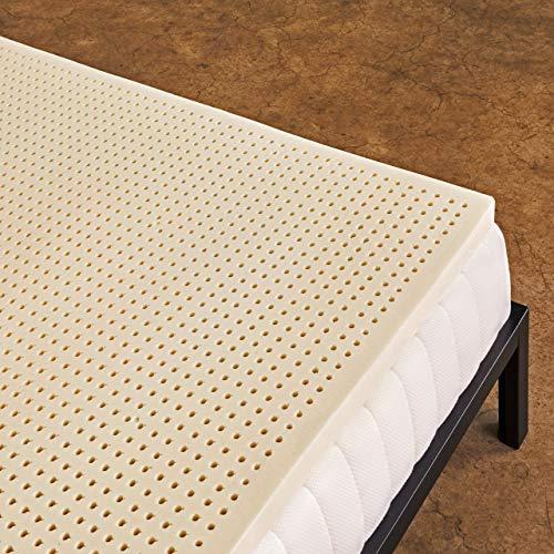 Pure Green 100% Natural Latex Mattress Topper - Firm - 2 Inch - Queen Size (GOLS Certified Organic)