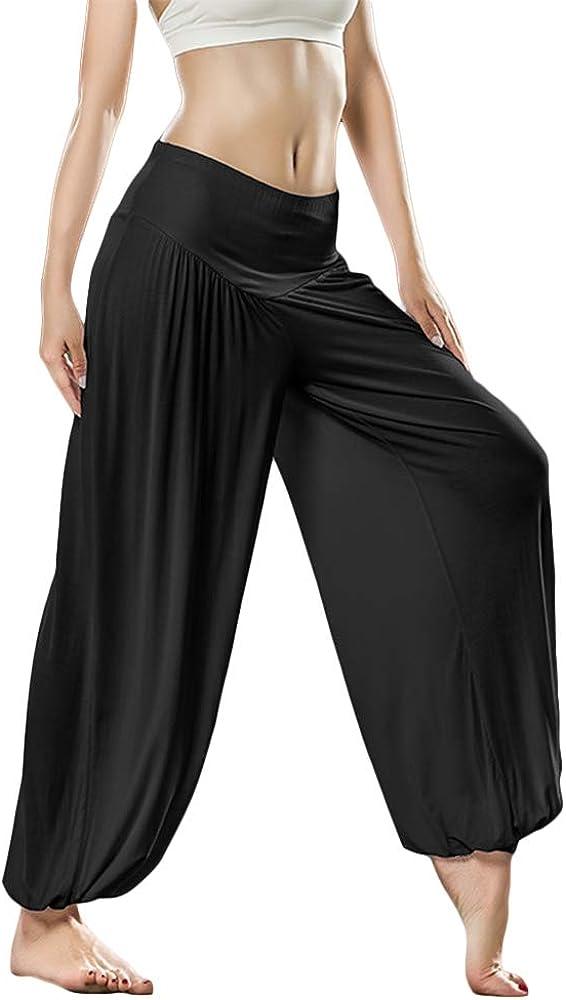 KSUA Womens Soft Modal Yoga Pants Long Baggy Sports Dance Harem Pants Loose Fit Yoga Bloomers