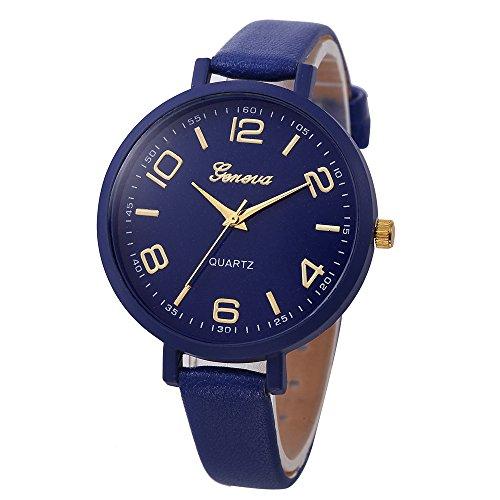 Frauen Faux-Thin-Leder-Band Net Farbe Elegante Armbanduhr Analoge Quarz Uhr Armband Mode Verkauft der Einfarbig Damenuhr Charm Zubehör LEEDY