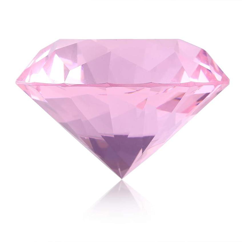 応用できた味付けネイルチップスタンド ネイルチップホルダー スタンドベース ネイルアートディスプレイガラスクリスタルダイヤモンドハンドモデルシュート (ピンク)
