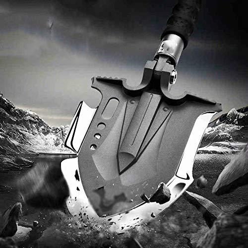 LL-shovel Militärische Klappschaufel, tragbarer kompakter taktischer Spaten mit Hüfttasche für Camping im Freien, Wandern, Rucksackwandern, Angeln, Jagen, Grabenentfernungswerkzeug, Autonotfall
