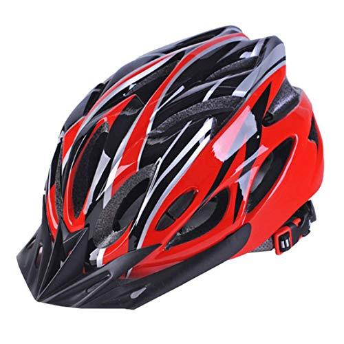 zhouweiwei Cascos de Bicicleta Mate Negro Hombres Mujeres Casco de Ciclismo Luz...