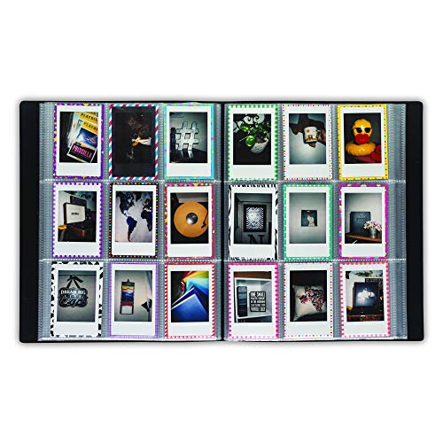 Samsill Polaroid Album for Instax Mini Photos and Kpop Photocards, 288 Pockets with Customizable Front Cover and Spine, Fits up to 2 Inch by 3 Inch Pictures
