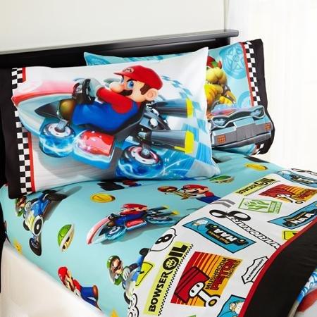 Buy Mario 'Road Rumble' Bedding Sheet Set, FULL