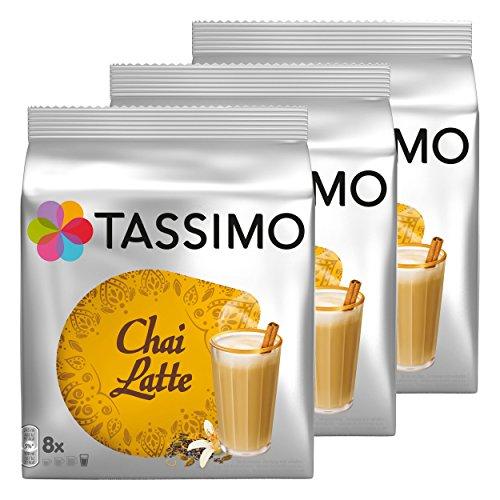 Tassimo Chai Latte, Tee, Schwarztee, Milchschaum, 24 T-Discs