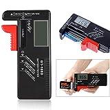 バッテリーテスター 電池残量測定器 デジタル 電池 チェックー ボタン電池の残量チェック 乾電池テスター LCD液晶画面 ブラック BT-168