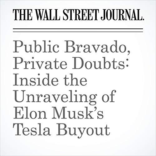 Public Bravado, Private Doubts: Inside the Unraveling of Elon Musk's Tesla Buyout copertina
