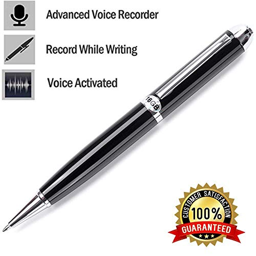 Digital Voice Activated Recorder 16GB - Extended Rechargeable Battery Extreme Storage - Portable Audio/Sound Recording Device