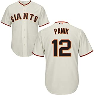 Joe Panik San Francisco Giants MLB Majestic Youth 8-20 Cream Ivory Home Cool Base Replica Jersey (Youth Small 8)