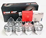 Sealed Power Speed Pro Cast +.030' Flat Top Pistons & Cast Rings Set of (8) compatible with Chevy 327 (4.030' Bore Diameter)