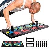 INTEY Tabla de flexiones 14 en 1, plegable, plegable, con asa para entrenamiento eficaz de fitness, desarrollo muscular, entrenamiento de fuerza