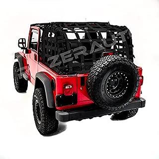Razer Auto 2 Door Model Only Black Cargo Restraint Net System Trail Cargo Net (Black) for 97-06 Jeep Wrangler TJ