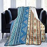 Manta de Franela con gráficos geométricos Multicolores Manta de Micropolar Suave y cómoda Manta de sofá cómoda y Duradera Manta de Tiro cómoda