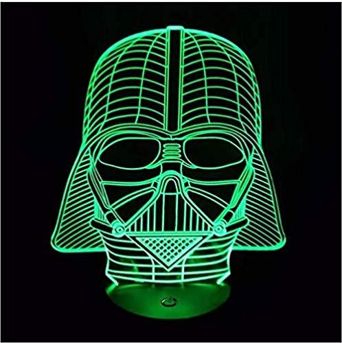 Lámpara de 7 colores que cambian de estado de ánimo de Star Wars Darth Vader Luz 3D