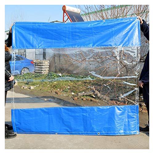 YJFENG Parabrisas De Alta Resistencia, Panel Lateral De Carpa De Jardín, Lona Recubierta De Costura De Lona Transparente De PVC De 0,5 Mm, 100% Impermeable, para Acampar, Bodas