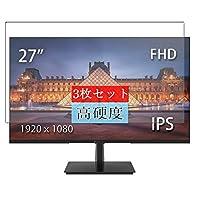 3枚 Sukix フィルム 、 JAPANNEXT JN-IPS270FHD 27インチ ディスプレイ モニター 向けの 液晶保護フィルム 保護フィルム シート シール(非 ガラスフィルム 強化ガラス ガラス )
