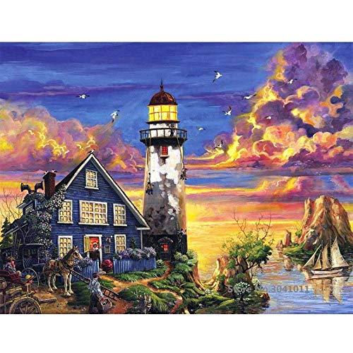 baodanla No Frame Seascape Öl von Digital Canvas für Hochzeitsdekoration Home Decoration50x70cm