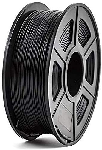3D Printer Filament 1.75mm 1kg/2.2lbs PLA PETG TPU Nylon Carbon Fiber Conductive ABS PC POM ASA Wood HIPS PVA Plastic Filament Color : PLA Black)
