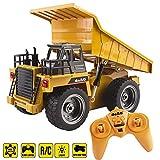 deAO RC Camion de Construction Modèle DieCast Radio commandé à Échelle 1:18 (Camion Benne)
