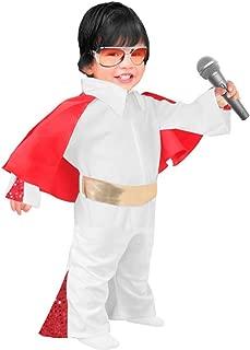 Toddler Elvis Jumpsuit Costume, Size Toddler 1T-2T White