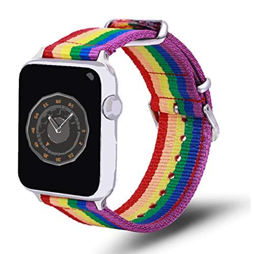 Cinturino cinturino per orologio Rainbow per Apple Watch Cinturino di ricambio per cinturino da polso serie Apple Watch 38/40mm Cinturino sostitutivo per Apple Watch