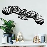 Abstracto geométrico jungla animal búho volar alas pájaro águila vinilo pared pegatina coche calcomanía niño niños guardería dormitorio sala de estar sala de juegos decoración del hogar mural