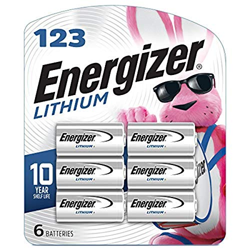 Energizer 123 Lithium Batteries, 3V CR123A Lithium Photo Batteries (6...