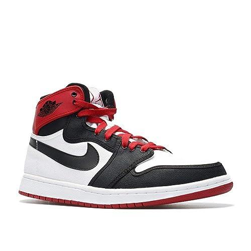 d0571e27c59c48 Nike Mens Air Jordan 1 Retro KO High Black Toe Canvas Basketball Shoes