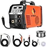 MIG Welder Inverter Mig Welding 200Amp 220V DC MAG <span class='highlight'>Gas</span> No <span class='highlight'>Gas</span> Lift Tig Stick Welding Machine ARC Classic Version MIG (MIG200 Steel Shell with WP17V Torch)