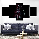 WJWORLD Jésus Saint-Esprit Impression sur Toile Peinture Décor À La Maison Mur Art Affiche 5 Pcs # 4-100 * 55cm-Cadre