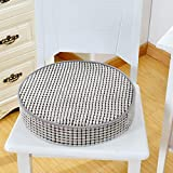 VANCORE Indoor/Outdoor Chair Cushion Non-Skid Memory Foam Seat Cushion Luxury Chair Pillow Round Chair Cushions Pads, Grey 15' Diameter