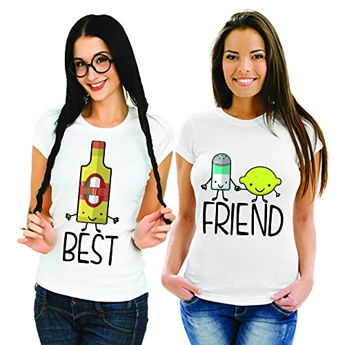 Babloo T-shirt BFF Best Friend Tequila zout en citroen