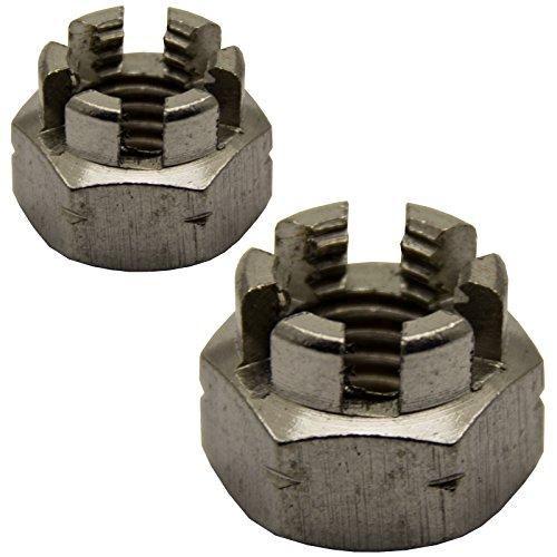 Sechskant-Muttern Kronenmuttern M8 DIN 935 Edelstahl A2 | Sicherungsmutter rostfrei 20 St/ück OPIOL QUALITY