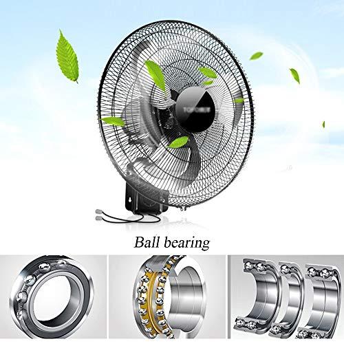 Ventilador Eléctrico De 18 Pulgadas Ventilador Industrial De 3 Velocidades Oscilante De 110 W Montado En La Pared Ventilador Industrial De Enfriamiento Silencioso Circulador De Aire para Gimnasio
