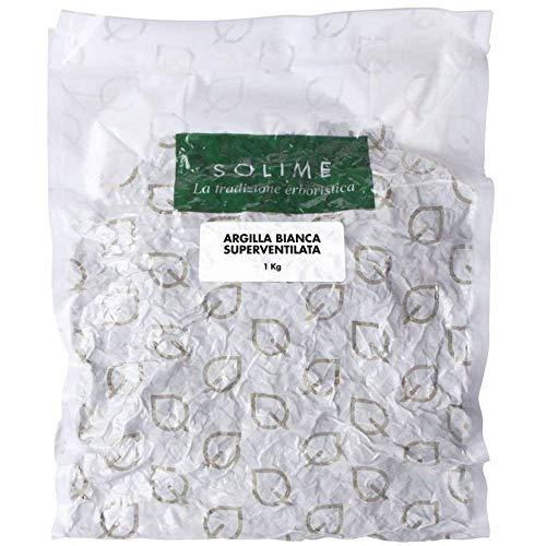 Argilla Bianca Superventilata per trattamenti purificanti di cute e capelli - 1 kg - Prodotto erboristico Made in Italy