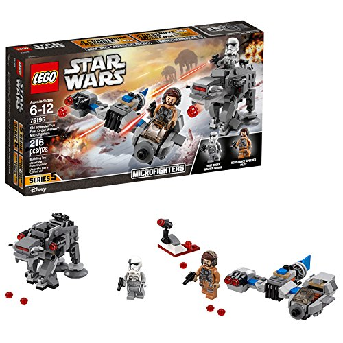 LEGO Star Wars: The Last Jedi Ski Speeder vs First Order Walker Microfighters 75195 Building Kit 216 Piece