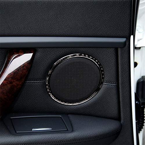 Konglz Productos para bebés RRX Carbono Etiqueta engomada Decorativa del círculo del Cuerno del Coche de la Fibra de Carbono for BMW E90 / E84 / 320i / 325i Productos para bebés
