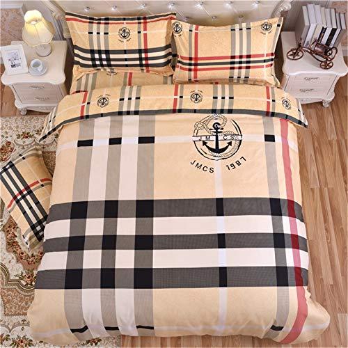 YYSZM Ropa De Cama Textiles para El Hogar Funda Nórdica De Lujo Algodón Suave Apto para La Piel Juego De 4 Piezas Hipoalergénico 200x230cm