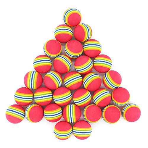 Yuhtech 30 Stück Golf Trainingsbälle, Golfbälle aus Schaumstoff Trainings-Golfbälle für Indoor-Übungen (Rot)