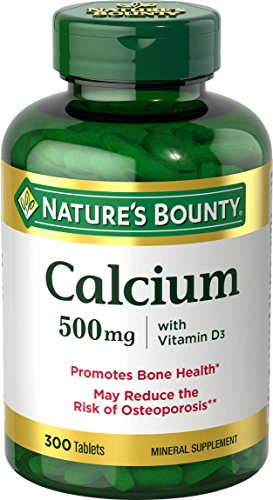 Calcium & Vitamin D3 by Nature's Bounty, Immnue Support & Bone Health, 500mg Calcium & 400iu D3, 300 Tablets