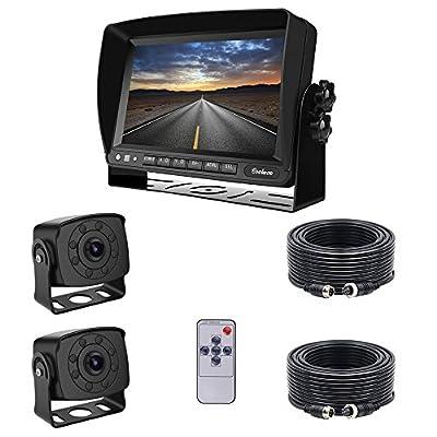 "7"" TFT LCD KFZ Monitor+ 8 IR LED Rückfahrkamera mit IP68 & Nachtsicht, inkl. 20 Meter Anschlusskabel (12-32 Volt) (CW1201)"