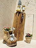 Altholz Blumensäule 16x12,50x40 cm - DIY - aus ca. 100-300 Jahre altem handgehacktem Holz -...