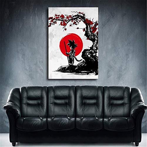 Puzzle 1000 piezas Arte moderno de estilo nórdico dragon ball goku cuadro de pintura puzzle 1000 piezas adultos Juego de habilidad para toda la familia, colorido juego de ubic50x75cm(20x30inch)