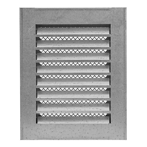 5x8'' Galvanized Outdoor Weather Proof Louver - Air Vent with Screen Mesh - HVAC Grille
