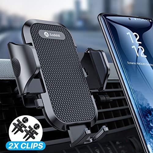 andobil Handyhalterung Auto Upgrade Handyhalter fürs Auto mit 2 Lüftungsclips 360° Drehbare Lüftung Handyhalterung Universale kfz Handy Halterung für iPhone11Pro Samsung S20 S10 Huawei Xiaomi LG usw