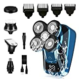 FOLUR Electric Shavers for Men Bald Head, 5 in 1 Electric Shaving Razors Waterproof Wet Dry Rotary...